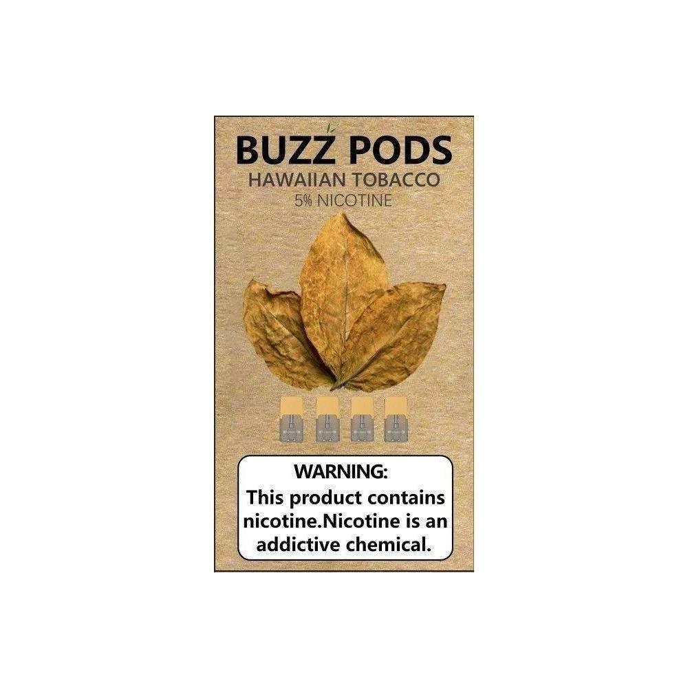 Buzz Pods - Hawaiian Tobacco Juul ( Compatible Pods )