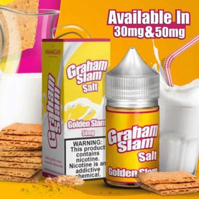 Graham Slam Salt Golden Slam 30ml Nic Salt Vape Juice
